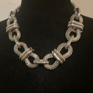 ❤ 2 for $25/Chunky silver-tone necklace